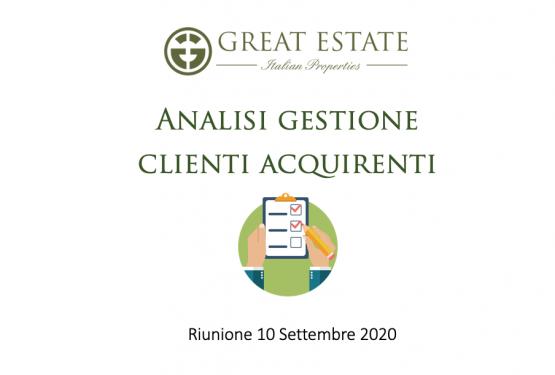 Protetto: Riunione del Gruppo Great Estate_Gestione Clienti Acquirenti