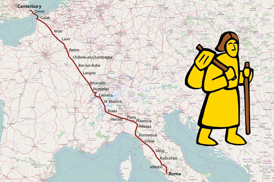 To the discovery of the Italian Via Francigena: its nomination for the UNESCO World Heritage List