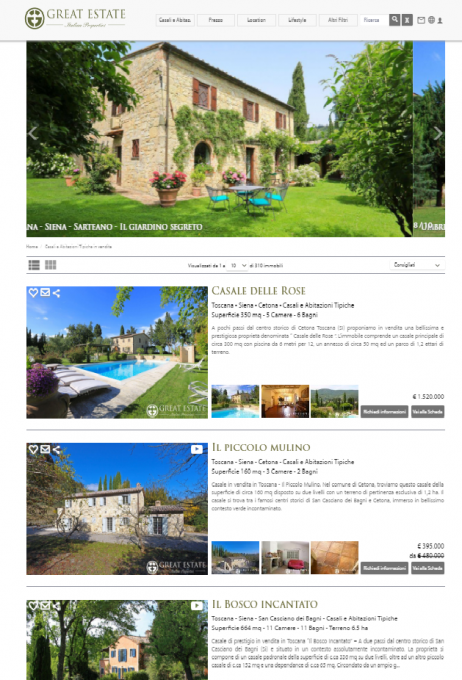 great estate, le tre v, metodologia