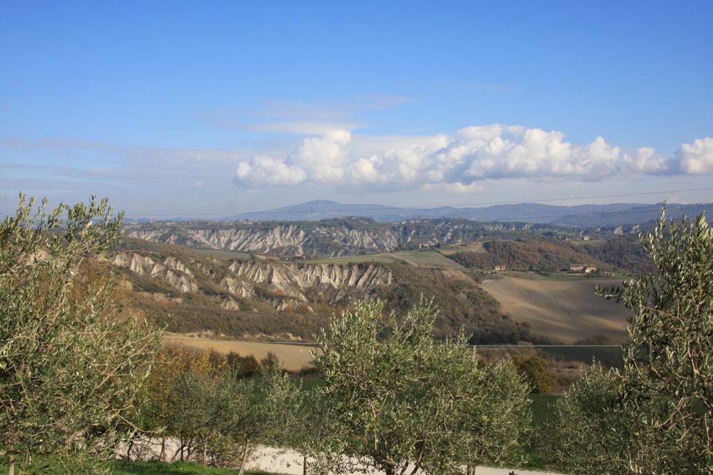 il panorama delle crete, allerona, terni, umbria