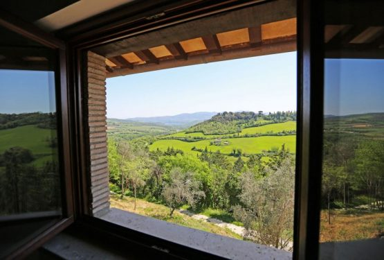 """La Rocca dalla Bella Vista sul Castello"": a stunning view down to Orvieto countryside"