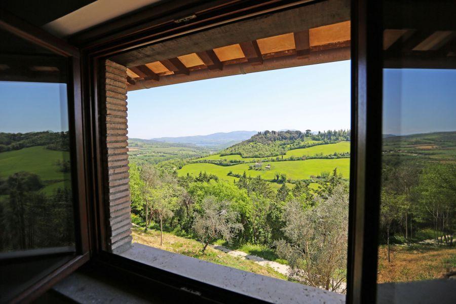"""""""La Rocca dalla Bella Vista sul Castello"""": a stunning view down to Orvieto countryside"""