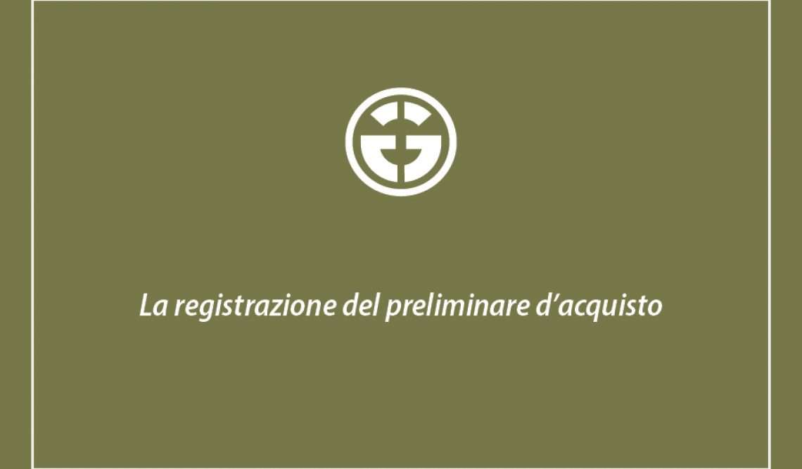 The preliminary contract registration: costs and procedures