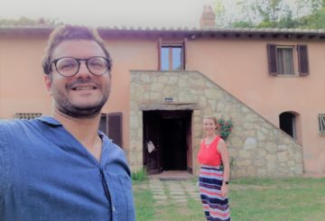 "Silvio and Emilie: in Tuscany… ""life is good""!"