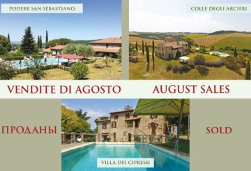 Agosto 2019: Great Estate festeggia tre importanti vendite in Umbria