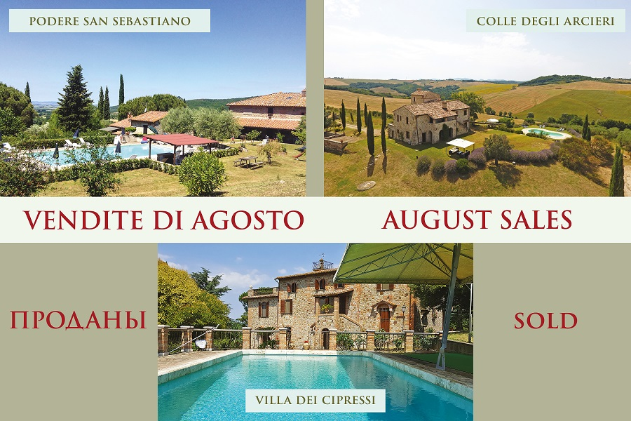 August 2019: Great Estate celebrates three important sales in Umbria