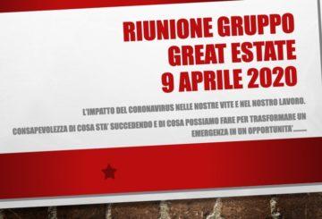 Protetto: RIUNIONE DEL GRUPPO GREAT ESTATE  9 APRILE 2020