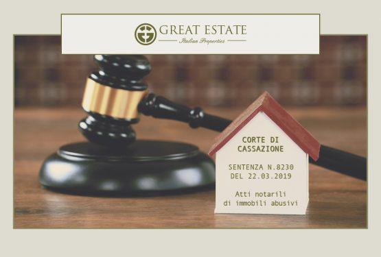 Protetto: La sentenza 8230/2019 della Cassazione: come cambia la nullità degli atti notarili di immobili abusivi