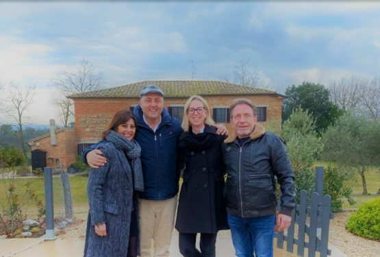 Riccardo Luculli and Nadia Aron: Sabina and Uwe become our friends