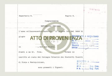 Atto di provenienza: Great Estate informs