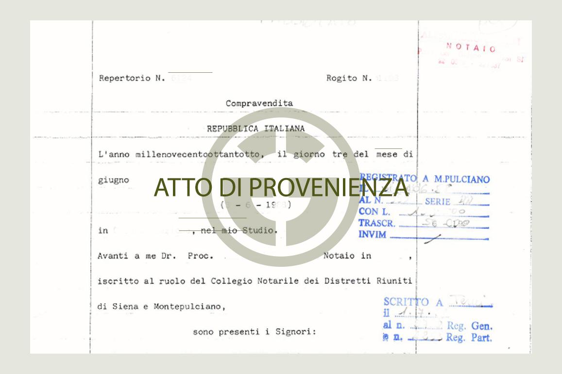 The previous sale deed (i.e. atto di provenienza): Great Estate informs