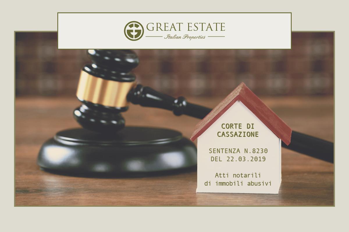 sentenza cassazione 8230/2019, nullità atti notarili, immobili abusivi