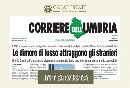 2020 luxury buying and selling: Corriere Dell'Umbria interviews Great Estate's CEO