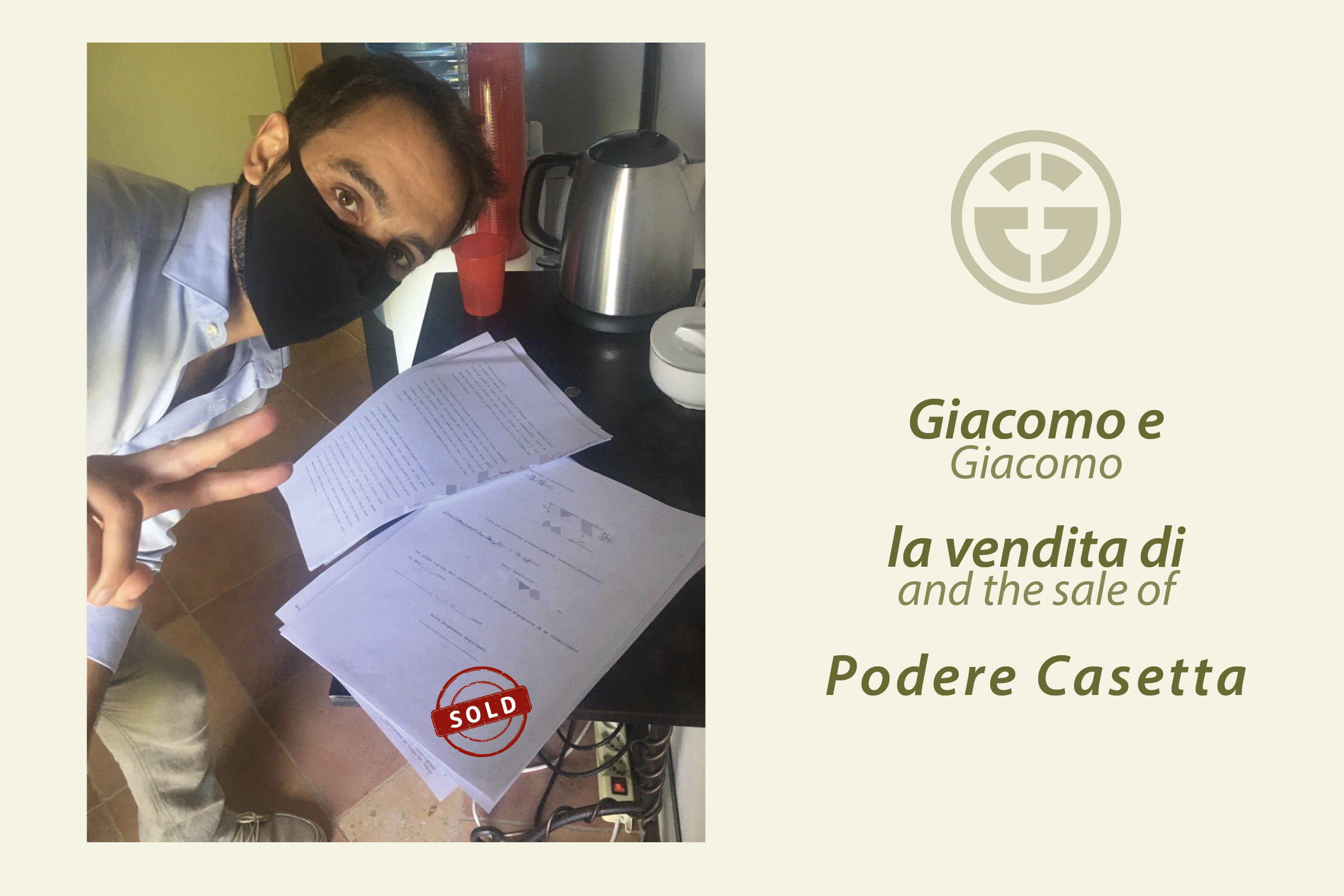"""Giacomo Buonavita: the sale of """"Podere Casetta"""" confirms the efficiency of the GE method"""