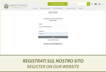 Would you like to discover everything about our properties for sale? Sign up now to greatestate.it!