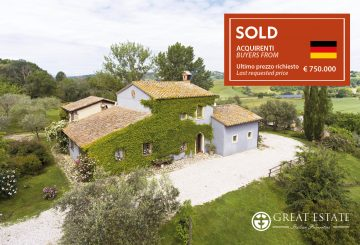 "December 2020: Great Estate closes its year with the sale of ""Podere Monteverde"""