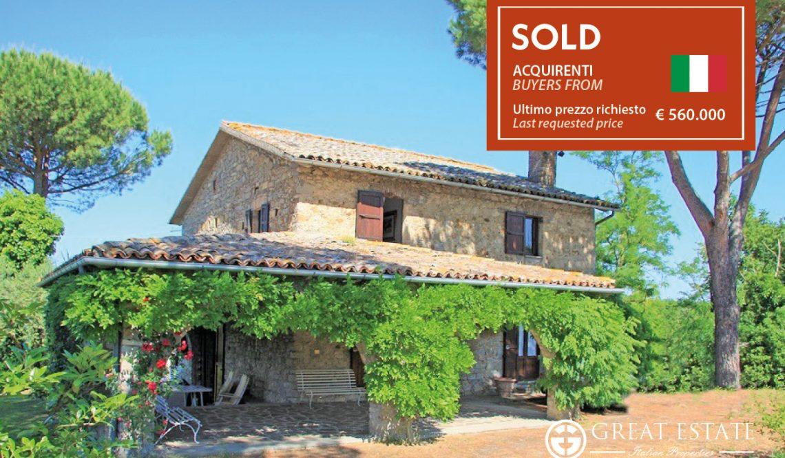 "Spring in bloom for Great Estate: ""Il Podere Umbro Delle Magnolie"" sold out"
