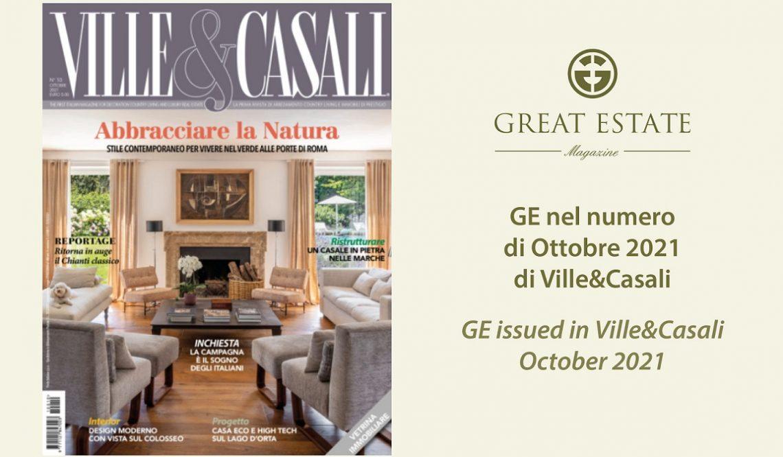 Рынок жилья, загородных домов в Сатурнии: Great Estate на страницах VILLE&CASALI